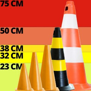 Cone de Treinamento p/ Futebol AX Esportes 38 Cm Azul-Y268