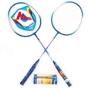 Kit Badminton c/ 2 Raquetes e 3 Petecas PRO YW284