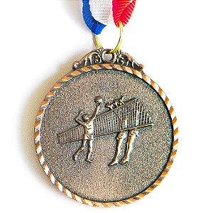 Medalha AX Esportes 50mm Vôlei Alto Relevo Bronzeada - Y224B