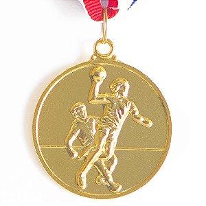 Medalha AX Esportes 50mm Handebol Dourada - Y223
