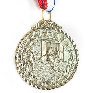 Medalha AX Esportes 50mm Futebol Star Alto Relevo Prateada - Y227P