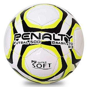 Bola Penalty Futsal 500 R3 Costurada