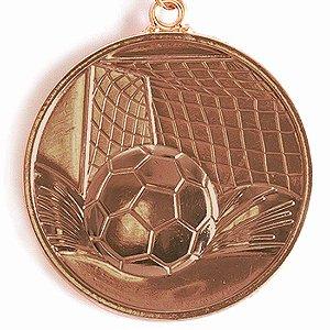 Medalha Gigante AX Esportes 64mm Futebol em Alto Relevo 3D Bronzeada - FA489 (Pç)
