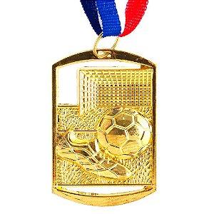 Medalha AX Esportes Futebol Retangular 40x60 Dourada - FA469 (Pç)