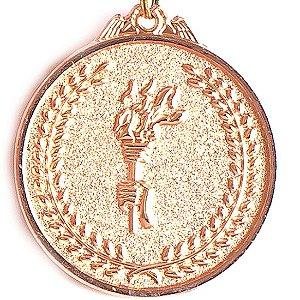 Medalha AX Esportes 64mm Honra ao Mérito Alto Relevo Bronzeada - FA485