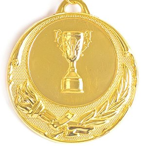 Medalha AX Esportes 55mm Honra ao Mérito Dourada-FA468-Pç
