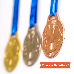 Medalha AX Esportes 35mm Honra ao Mérito Prateada-FA466-Pç