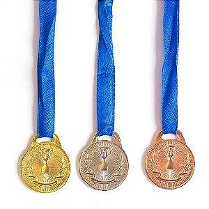Medalha AX Esportes 35mm Honra ao Mérito Bronzeada-FA466-Pç