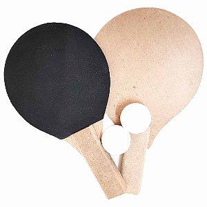Kit AX Esportes Frescobol 2 Raquetes + 1 Bola