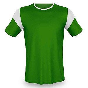 Jogo de Camisa para Futebol AX Esportes Verde com Branco - 7+1 Numeradas