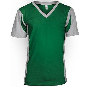 Jogo de Camisa para Futebol AX Esportes Verde com Branco - 10+1 Numeradas