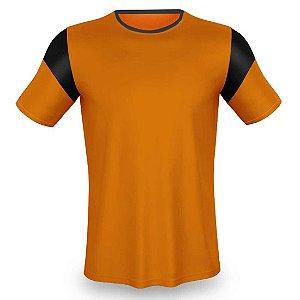 Jogo de Camisa para Futebol AX Esportes Laranja com Preto - 14+1 Numeradas