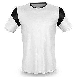Jogo de Camisa para Futebol AX Esportes Branco com Preto - 14+1 Numeradas