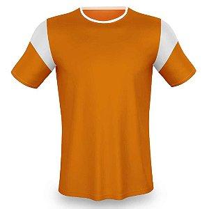 Jogo de Camisa para Futebol AX Esportes Laranja com Branco - 10+1 Numeradas