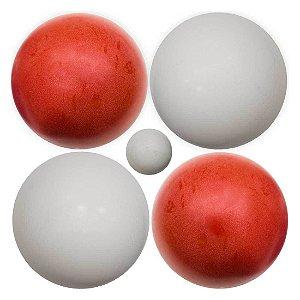 Jogo de Bocha com 1 Balim e 8 Bolas de 1900 grs