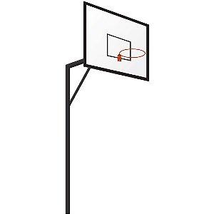 Estrutura de Basquete Oficial AX Esportes com Recuo de 1,30m e Tabela - Mod985 -E (PAR)