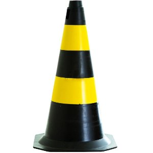 Cone de 50cm AX Esportes - Preto e Amarelo
