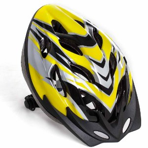 Capacete de Ciclismo PRO AX Esportes - Amarelo e Preto - YWA081