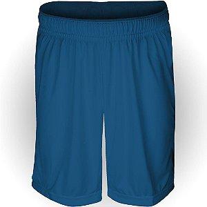 Calção AX Esportes Poliéster Liso Azul