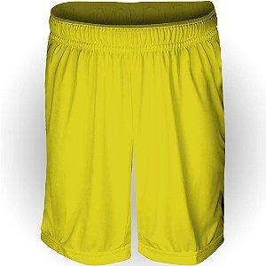 Calção AX Esportes Poliéster Liso Amarelo