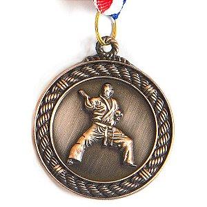 Medalha AX Esportes 50mm A. Marciais Alto Relevo Bronzeada - Y229B