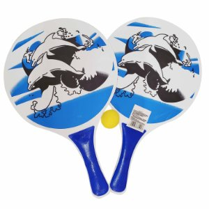 Kit Frescobol BLS 2 Raquetes + 1 Bola