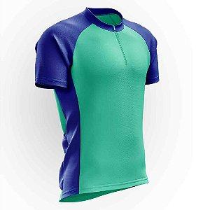 Camisa para Ciclismo AX Esportes Azul e Verde