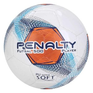 Bola de Futsal Player 500 Penalty - Branca/Laranja
