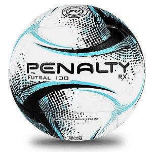 Bola de Futsal Penalty RX 100 XXI - Branca e Azul