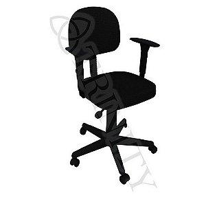 Cadeira Giratória Secretária com Braço Regulável