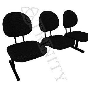 Longarina Executiva 3 Cadeiras
