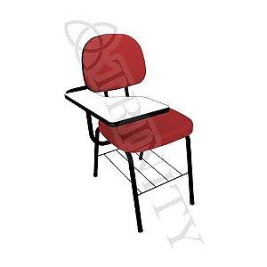 Cadeira Universitária Secretária com Porta Livros