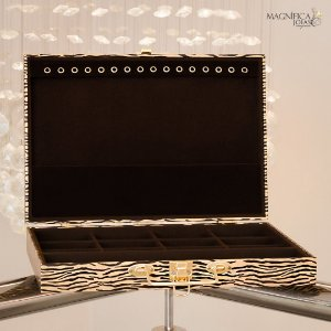 Maleta de joias luxo animal print tigre