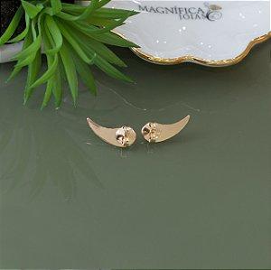 Tarraxa vírgula em banho dourado para brincos maiores