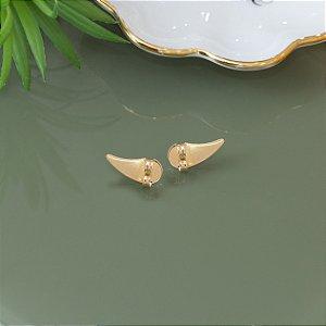 Tarraxa vírgula em banho dourado para brincos pequenos