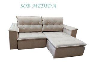SOB MEDIDA - Sofá Retrátil e Reclinável Alana