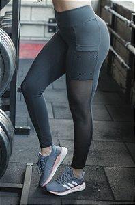 Legging Fitness Cintura Alta Bolso Macrotela
