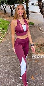 Conjunto Fitness Cintura Alta Top Strappy