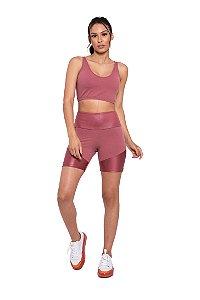 Conjunto Fitness Cintura Alta Blush Strappy