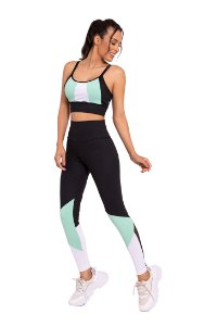 Conjunto Fitness Cintura Alta Cool Mint