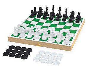 Jogo Xadrez e Damas Escolar
