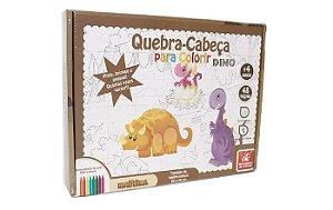 Quebra-Cabeça Gigante - Dinossauro para Colorir