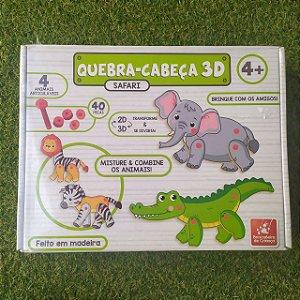 QUEBRA CABEÇA 3D ARTICULAVEIS SAFARI