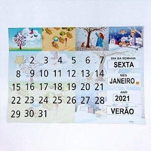 Calendário imantado - estação
