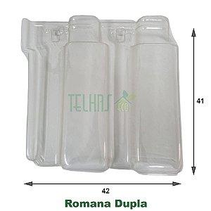 Kit 10 Telha Romana Dupla Transparente Termo 41x42