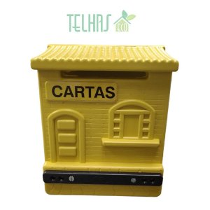 Caixa de Correios Correspondência Colonial - Amarela
