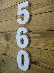 Números Residenciais Branco 15cm caixa alta 3D