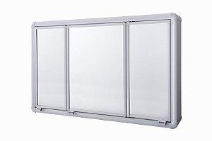 Armario Banheiro Astra Aluminio 73x45x11.3 Cm Lbp14/S
