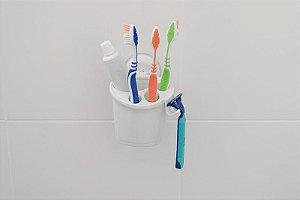 Porta Escovas De Dentes Com Ventosa Astra Plastico Av/pe*br1