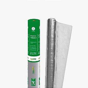 Manta Térmica Telhado 1 Face Alumínio 25m² Sb3 Brasfoil